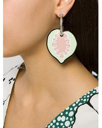 Marni - Black Drop Heart Earrings - Lyst
