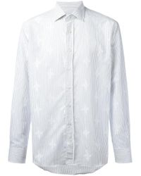 Etro - Blue Striped Shirt for Men - Lyst