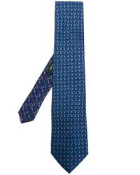 Etro - Blue Rabbit Print Tie for Men - Lyst