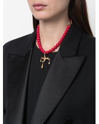 Valentino - Red Garavani Beaded Necklace - Lyst