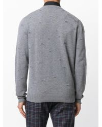 Etro - Gray Wollsweatshirt in Distressed-Optik for Men - Lyst