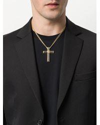 Versace - Metallic Medusa Cross Necklace for Men - Lyst