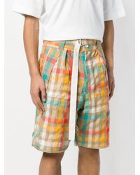 Sacai - Multicolor Check Shorts for Men - Lyst