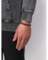 Alexander McQueen - Black Skull Bracelet for Men - Lyst