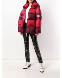 Tommy Hilfiger - Red Stripe Padded Coat - Lyst