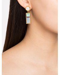 Lizzie Fortunato - Metallic Cuban Column Earrings - Lyst