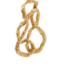 Oscar de la Renta - Metallic Entangled Clip-on Earrings - Lyst