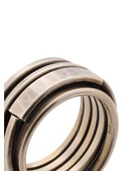 Werkstatt:münchen - Metallic Wrap-around Ring for Men - Lyst