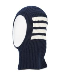 Thom Browne - Blue Ribbed Cashmere Balaclava for Men - Lyst