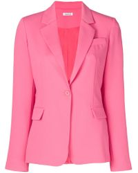 P.A.R.O.S.H. Pink Classic Single-breasted Blazer