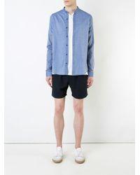 YMC - Blue 'bootboy' Chambray Shirt for Men - Lyst