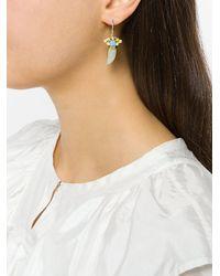 Iosselliani - Metallic Elegua Drop Horn Earrings - Lyst