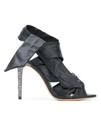 Alexandre Birman Black Maleah Ankle-wrap Sandals