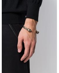 Alexander McQueen - Metallic Skull Detail Cuff Bracelet for Men - Lyst