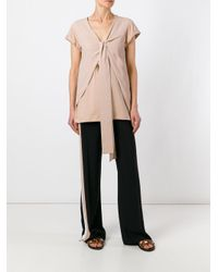 N°21 - Pink Tie Knot T-shirt - Lyst