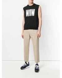 MSGM - Black Wow Print Sleeveless Sweatshirt for Men - Lyst