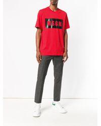 MSGM Red Logo T-shirt for men
