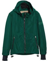 Burberry - Green Lightweight Jacket for Men - Lyst
