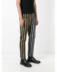 Haider Ackermann - Black Striped Trousers for Men - Lyst