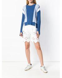 Jonathan Simkhai - Blue Colour Block Linked Rib Sweater - Lyst