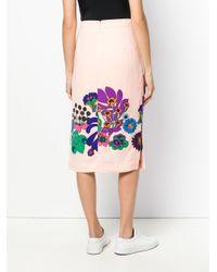 Essentiel Antwerp - Multicolor Reglisse Printed Midi Skirt - Lyst