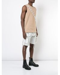 D.GNAK - Natural X-string Panel Tank Top for Men - Lyst