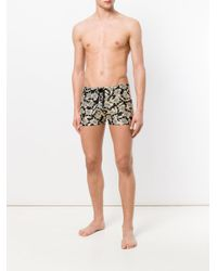 Moschino - Black Teddy Bear Print Swimming Shorts for Men - Lyst
