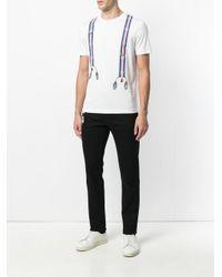 Fendi - White Graphic Print T-shirt for Men - Lyst