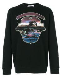 Givenchy | Black Hawai Crest Print Sweatshirt for Men | Lyst
