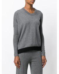 Sonia Rykiel - Gray Asymmetrical Sweater - Lyst