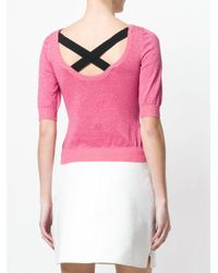 Moschino - Pink Fine Knit Sweater - Lyst