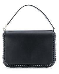 Paco Rabanne Black Ring Studded Clutch Bag