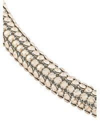Christopher Kane - Metallic Skinny Single Bolster Bracelet - Lyst