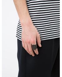 Henson - Black Carved Vert Ring for Men - Lyst