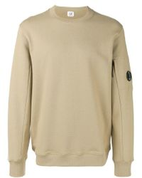 C P Company Natural Lens Arm Sweatshirt for men