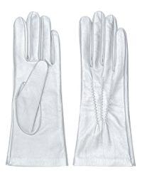 Manokhi - Metallic Fitted Gloves - Lyst