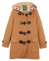 Burberry - Brown The Mersey Duffle Coat - Lyst