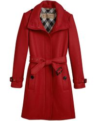 Burberry - Red Technical Trench Coat - Lyst