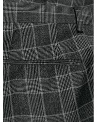Versace Gray Checked Two-piece Suit for men