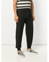 Kent & Curwen - Black Tapered Trousers With Large Side Pockets for Men - Lyst
