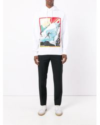 DSquared² - White Ski Print Hooded Sweatshirt for Men - Lyst
