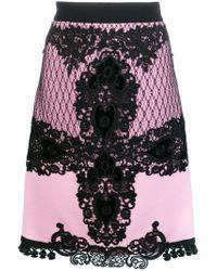 Fausto Puglisi - Multicolor Lace Embroidered Midi Skirt - Lyst