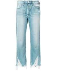 3x1 - Blue Cropped Pants - Lyst