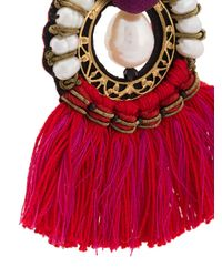 Ranjana Khan - Red Fringed Earrings - Lyst