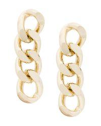 Rosantica - Metallic Chuncky Chain Earrings - Lyst