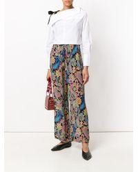 Etro - Multicolor Paisley Print Wide-leg Trousers - Lyst
