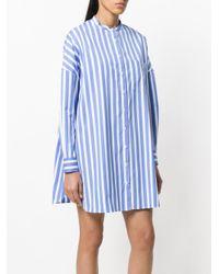Aspesi - Blue Striped Shirt Dress - Lyst