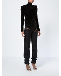Y. Project - Black Thigh Slit Tailored Trousers - Lyst