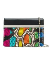 Rodo - Black Snake-effect Clutch Bag - Lyst