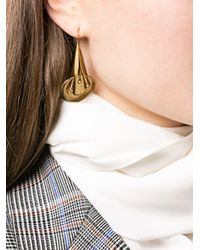 Jennifer Behr - Metallic Lily Drop Earrings - Lyst